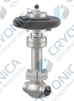 Запорный клапан тип 01753 с пневмоприводом