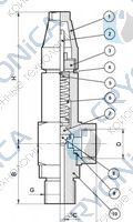 Криогенный предохранительный клапан CAEN VAS-LT6