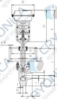 Запорный клапан криогенный типа T201DZ20-200 с пневматическим приводом