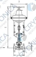 Криогенный запорный клапан типа T202DZ20P-250P с пневматическим приводом