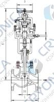 Запорный клапан типа T217QA25-250 с пневматическим приводом