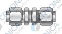 Фитинг прямой конфигурации под развальцовку с креплением на панель серии FBU
