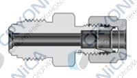 Фитинги с торцевым уплотнением VCR корпуса соединитель с трубным обжимным фитингом Swagelok